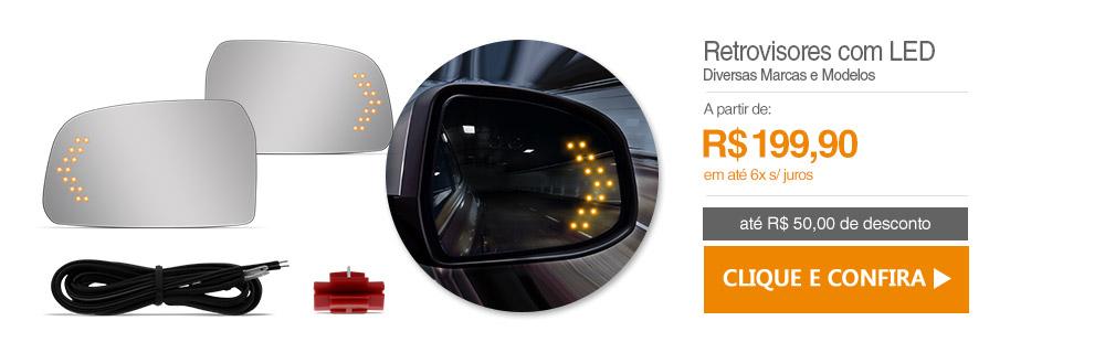 Retrovisor com LED