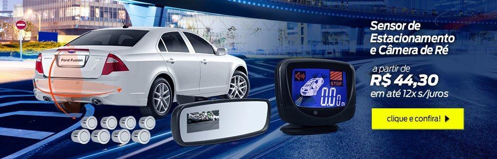 Sensor de estacionamento e camera de ré